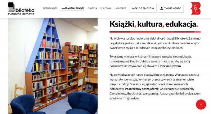 Biblioteka Publiczna Bemowo strona www